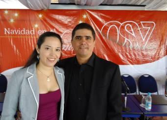 Isabel Camacho y Justo Morao en la rueda de prensa del disco