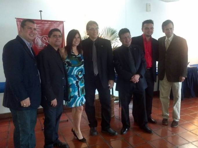 Frank Vicent, Justo Morao, Susana Salas, Alejandro Montes de Oca, Andrés Eloy Rodríguez, Ernesto Niño y Alfonso López