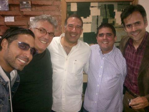 Alexander Vanlawren, Ilan Chester, Rafael Rondón, Justo Morao y Alfonso López Chollett