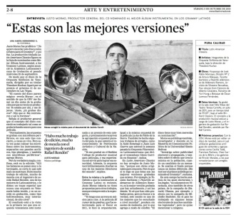 Justo Morao - entrevista El Universal