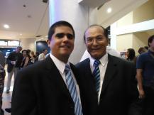 Justo Morao y el primer actor José Torres