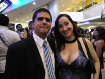 Junto a la primera actriz Verónica Arellano