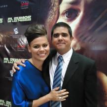 Justo Morao y la protagonista Rossana Fernández