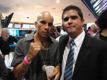 Justo Morao y el actor de reparto Zapata 666