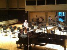 Probando sonido en la Sala Ribas del Teatro Teresa Carreño.