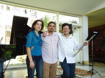 Ana María, Justo y Andrés Eloy