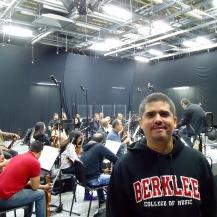 Justo Morao - Grabando música sinfónica - skynotestudio.com