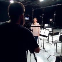 Isabel Camacho - En la grabación del video - skynotestudio.com