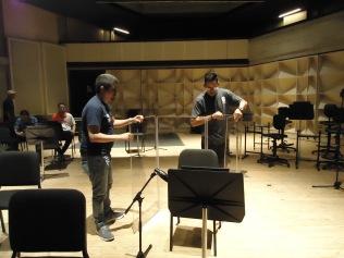 Preparando el set de grabación
