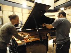 Afinando y preparando el piano