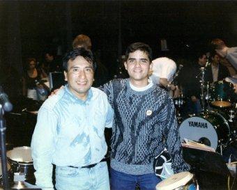 Alex Acuña y Justo Morao