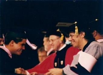 Chick Corea de padrino en la graduación de 1997. Berklee College of Music