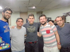 Rafael, Justo, Jair, Denis y Alonso