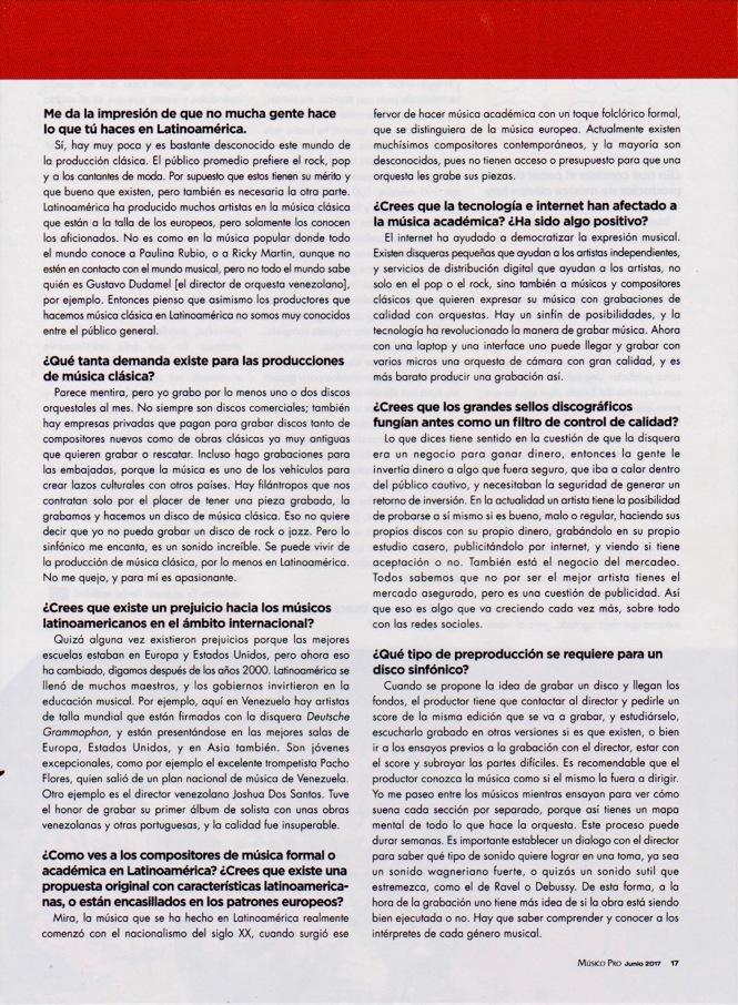 Entrevista a Justo Morao - Músico Pro Junio 2017 - pag. 2