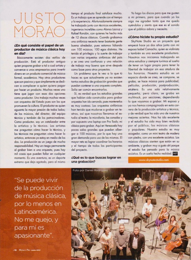 Entrevista a Justo Morao - Músico Pro Junio 2017 - pág. 3